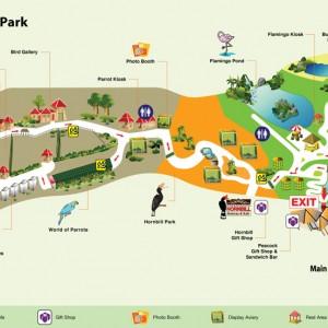 پارکپرندگان کوالالامپور (نقشۀ پارک)