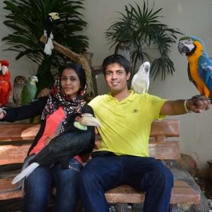 پارکپرندگان کوالالامپور (غرفۀ عکس با پرندگان)