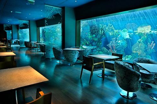 رستوران دریایی Aquamarine Restaurant هتل مردان پالاس آنتالیا