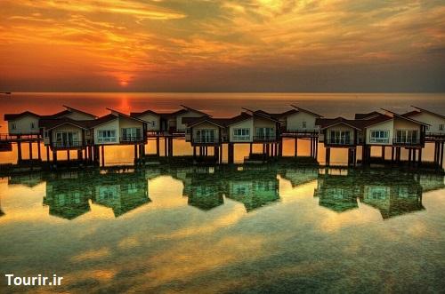 هتل روی آب در کیش (ترنج)