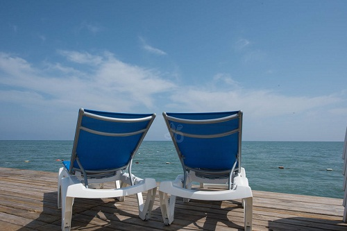 اسکلۀ ساحل اختصاصی هتل ۵ ستاره ونیزیا پالاس آنتالیا