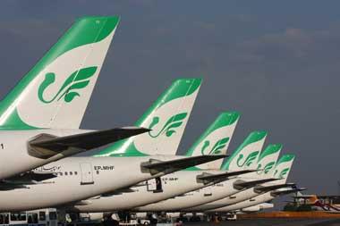 ممنوع شدن عبور هواپیماهای شرکت ماهان