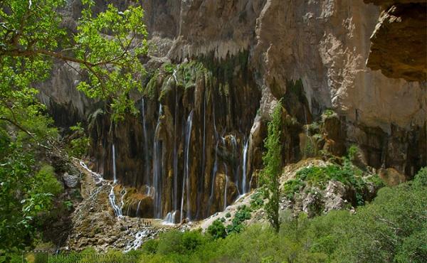 آبشار زیبای مارگون عریضترین آبشارایران