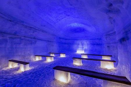 تونلی یخی بسیار زیبا ودیدنی در ایسلند