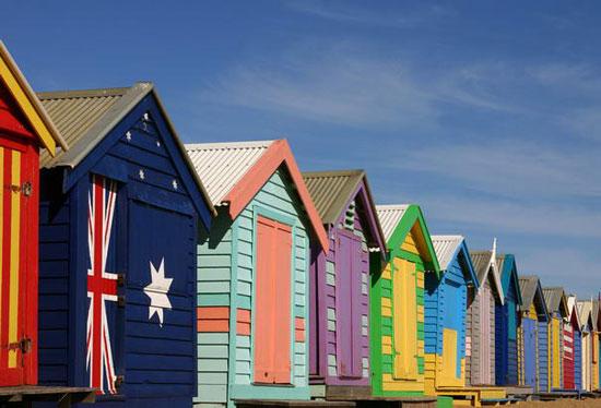 ساحل برایتون، ملبورن، استرالیا