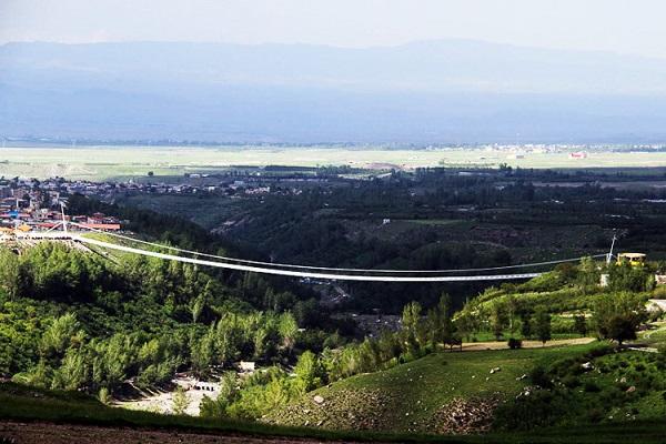 پل معلق مشگین ، بزرگ ترین پل معلق خاورمیانه