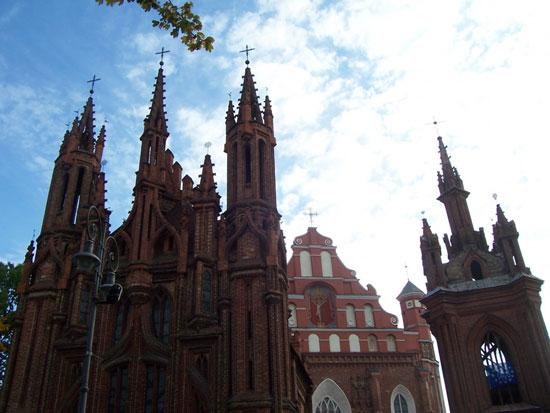 کلیسای سنت آن در ویلنیوس، لیتوانی