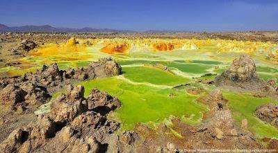 آتشفشان رنگی زیبا در اتیوپی ، دالول