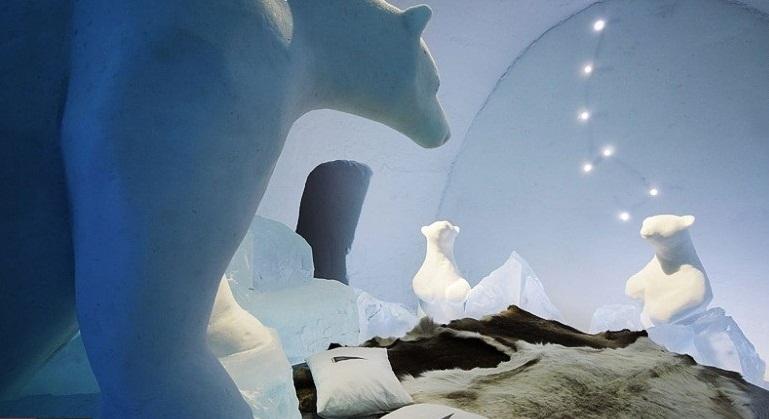 هتلی فوق العاده از جنس برف و یخ