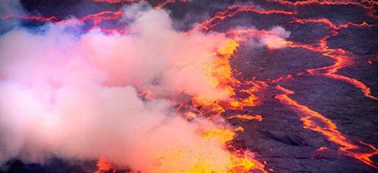 دریاچه ی آتش کنگو