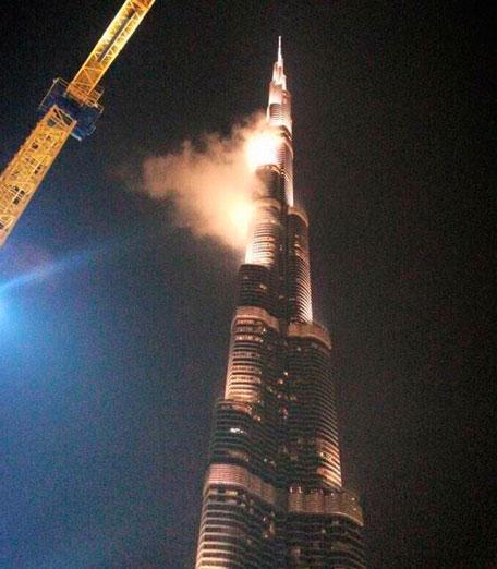 آتش سوزی یک برج گران قیمت در دبی