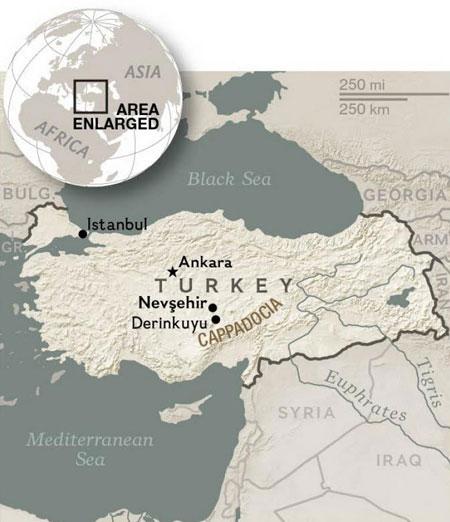 کاپادوکیه ، عجیب ترین شهر زیرزمینی ترکیه
