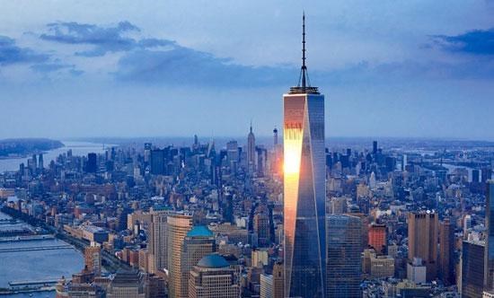 برج مرکز تجارت جهانی یک؛ نیویورک به ارتفاع 1776 پا