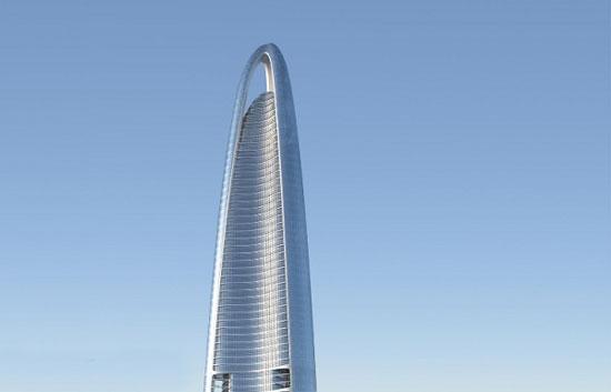 آسمان خراش ووهان سنتر؛ چین به ارتفاع 1437 پا