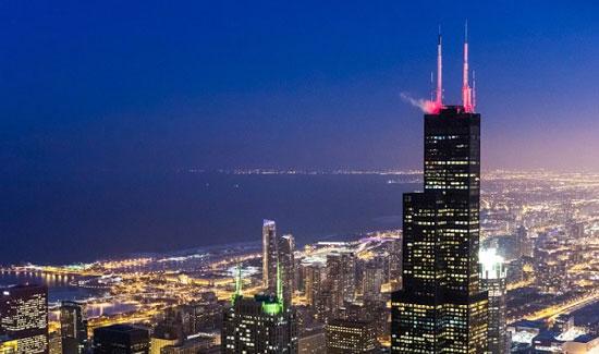 برج ویلیس؛ شیکاگو به ارتفاع 1451 پا