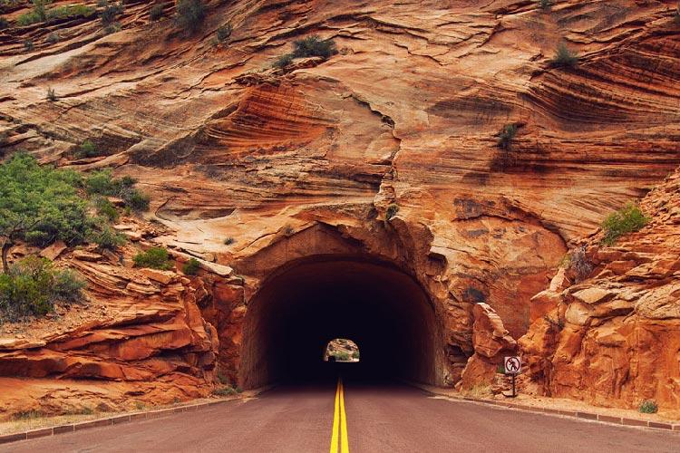 تونل پارک ملی یوتا؛ آمریکا