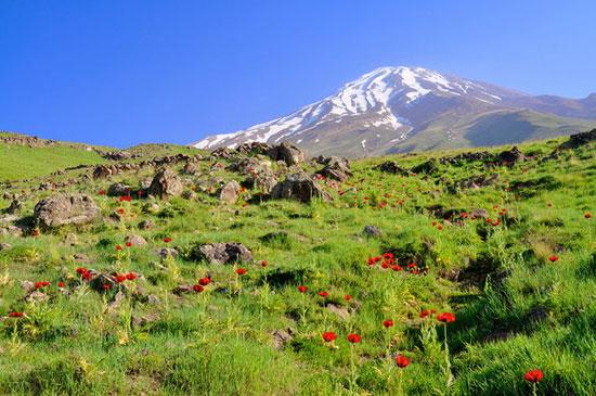 دماوند بلندترین کوه ایران و خاورمیانه است
