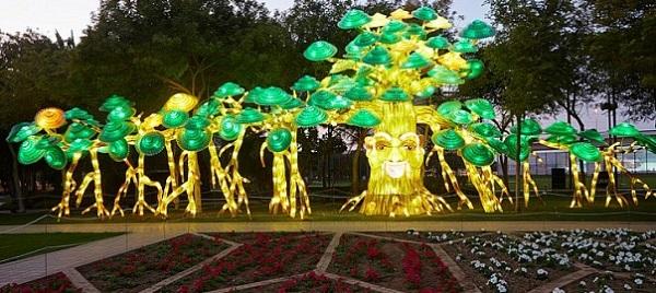 پارک جدید و دیدنی نور در دبی