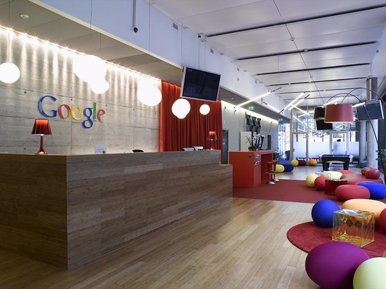 فضای دیدنی دفتر گوگل در زوریخ