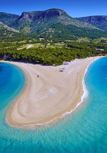 ساحل Zlatni Rat Beach؛ کرواسی