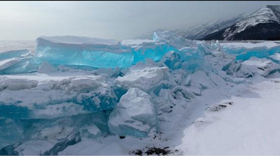 دریاچه بایکال آیس، سیبری، روسیه (Lake Baikal ice, Siberia, Russia)