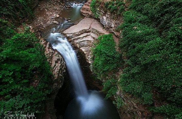 آبشار ویسادار واقع در تالش