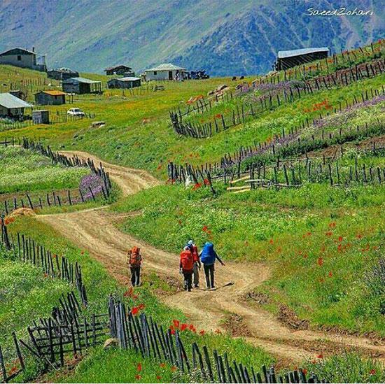طبیعت زیبای ییلاق تالش در استان گیلان