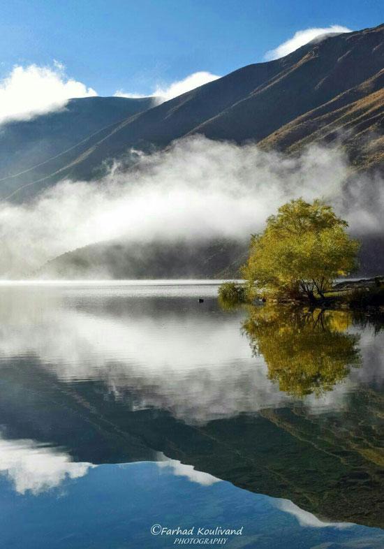 دریاچه کوهستانی گَهَر در میان رشتهکوه اشترانکوه
