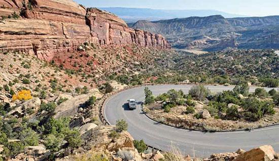 جاده ریم راک درایو در کلرادو / ایالات متحده