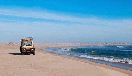 ساحل زیبای اسکلت در نامیبیا