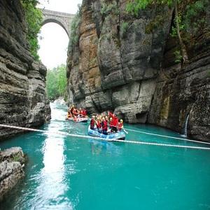 جاذبه های گردشگری آنتالیا، رافتینگ
