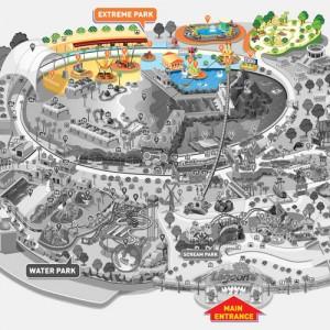 پارک سان وی لاگون (نقشۀ پارک بی نهایت از هیجان)
