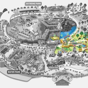 پارک سان وی لاگون ( نقشۀ پارک حیات وحش)
