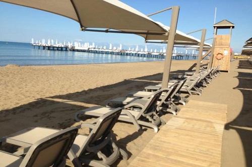 ساحل اختصاصی هتل بلیس دلوکس بلک آنتالیا Bellis Deluxe