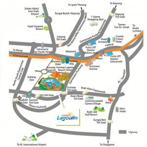 آدرس پارک سان وی لاگون در نقشه