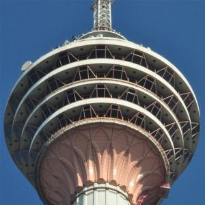 برج مخابراتی کوالالامپور (مقنسکاری خارج برج)