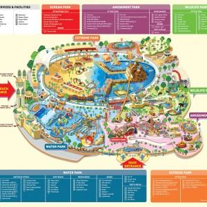 پارک سان وی لاگون (نقشه کامل پارک)