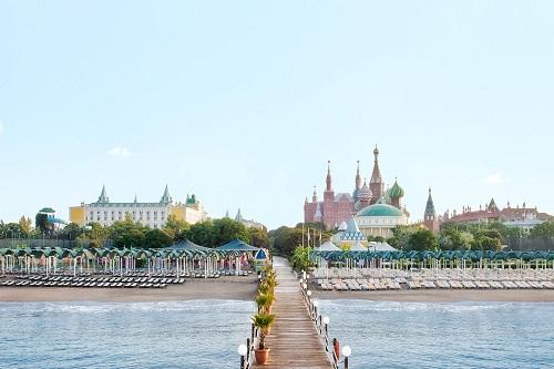 ساحل اختصاصی هتل وو کرملین آنتالیا WOW Kremlin Palace