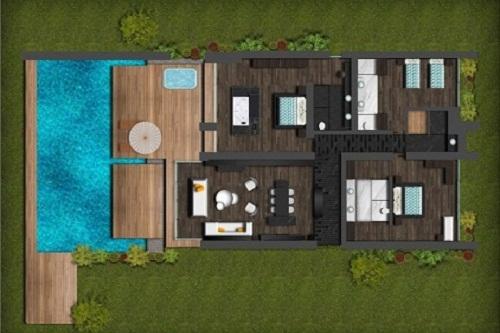 نقشۀ ویلا های Royal Beach Villa هتل مکس رویال کمر آنتالیا