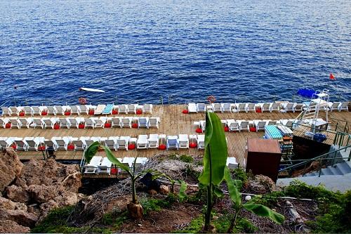 ساحل اختصاصی هتل 5 ستاره آدونیس آنتالیا