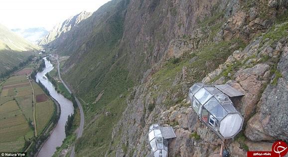 هتل معلق در هوا که 30 متر از زمین فاصله دارد