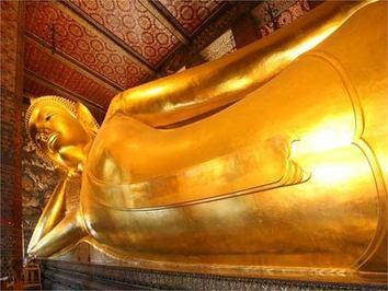 معبد شگفت انگیز بودای خفته در تایلند