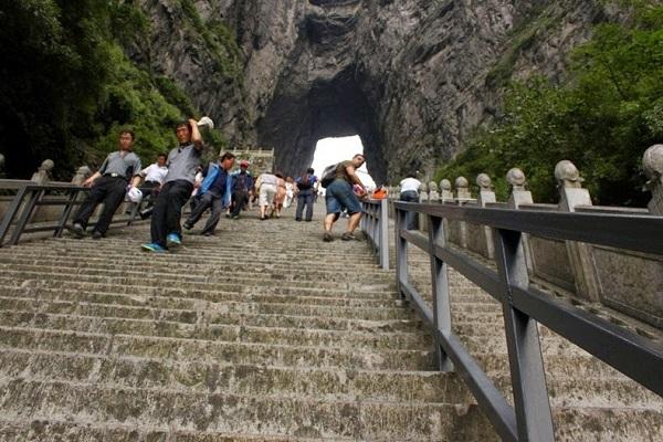 تیانمن شان ، کوهی مشهور به دروازه بهشت در چین
