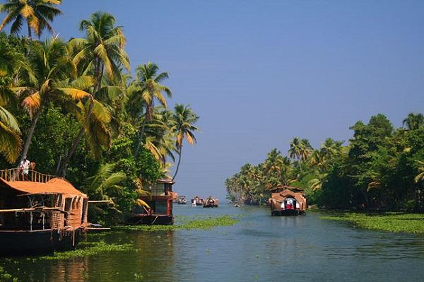 جاذبه های گردشگری هند، مردابهای کِرالا