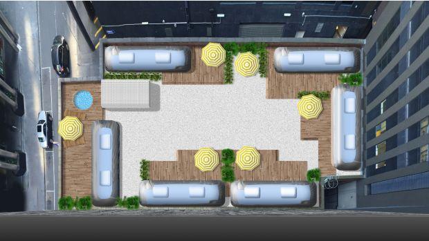 اقامتی متفاوت در پشت بام یک پارکینگ در ملبورن