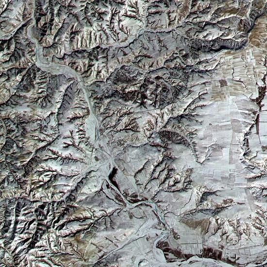 تصویر ماهواره ایی از دیوار چین