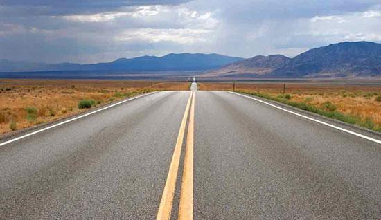تنهاترین جاده در نوادا