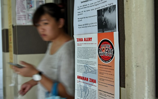ویروس زیکا در سنگاپور Singapore on August 28 confirmed 41 locally transmitted cases of the Zika virus, which can cause deformities in unborn babies, and said more infections are likely. / AFP PHOTO / ROSLAN RAHMAN