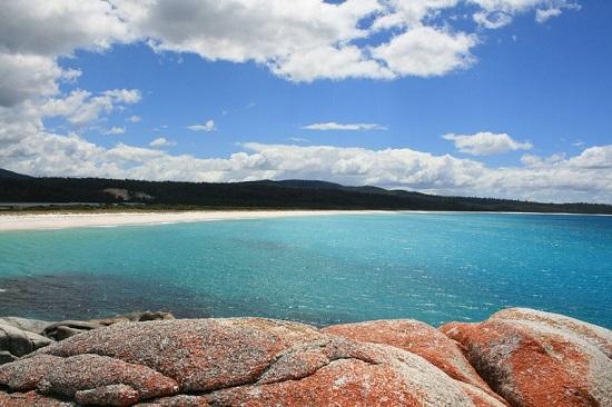 خلیجی متفاوت با صخره های سرخ