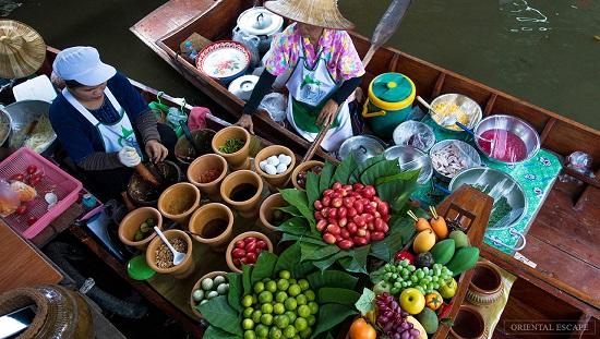 جاذبه های گردشگر تایلند ، بازار روی آب بانکوک